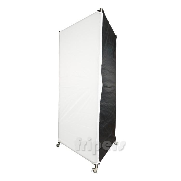 trolley column softbox 100x200 cm for 2 monolights. Black Bedroom Furniture Sets. Home Design Ideas