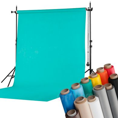 2,7 x 5 m background + background support kit FreePower