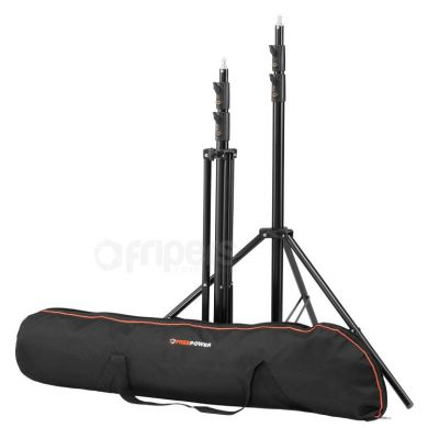 2x Light Stands 250cm Freepower with cover
