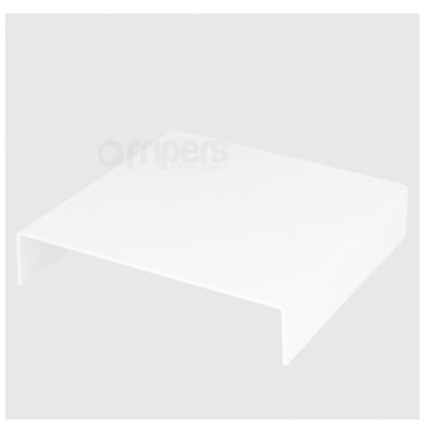 Acrylic Plate FreePower 24x24 OUTLET Bent, White