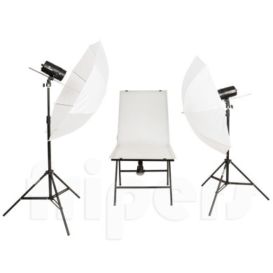 Flash lighting kit FreePower 2 x CY100MR for product photography