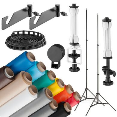 Background support system kit FreePower 225 cm (drive+stands+background)