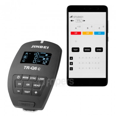 Battery wireless radio trigger Jinbei TRQ6C for Canon