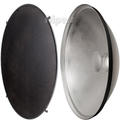 Beauty dish Jinbei 42 cm silver bowens, with grid and diffuser