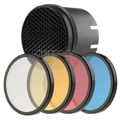 Colour filters and grid kit FreePower for lamps with 9,5cm mount