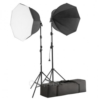 Continuous light kit Dual Video Advanced Octa with octa softboxes, light stands and bag