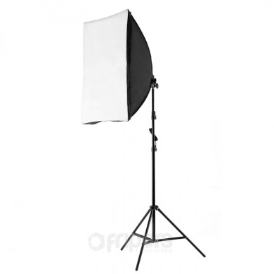 Continuous light kit Video Basic Rectangle M with octa softbox and bag light stand