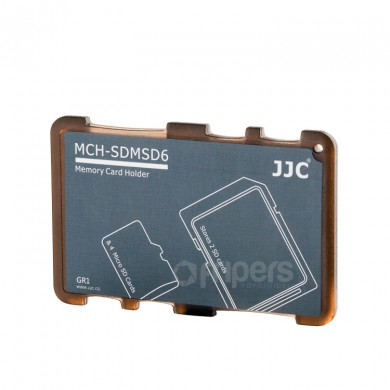 Cover for memory cards JJC SDMSD6GR for SD and micro SD cards