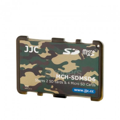Cover for memory cards JJC SDMSD6YG for SD and micro SD cards
