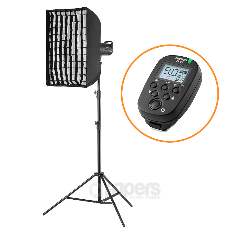 Flash lighting kit BASICPOWER with Jinbei DM series lamp