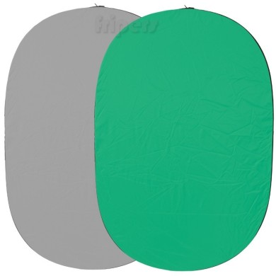Foldable photo background 150x200cm green-grey FreePower