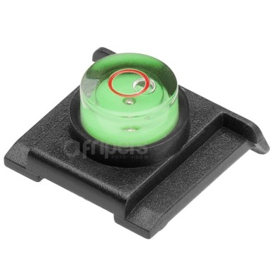 Hot shoe protection cap with a level FreePower