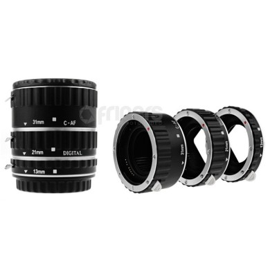 Macro rings kit with signals transmission for Canon METAL NEWELL
