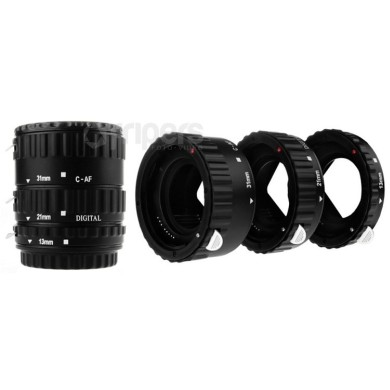 Macro rings kit with signals transmission for Canon PLASTIC NEWELL