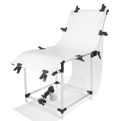 Photo table 60x130 with flash lamp - kit FreePower