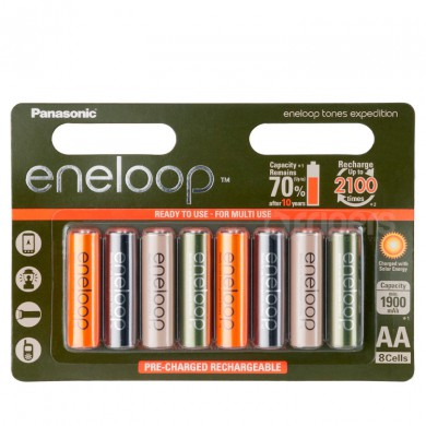 Rechageable batteries Panasonic Eneloop Expedition 2000mA 8x R6/AA