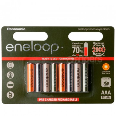Rechageable batteries Panasonic Eneloop Expedition 800mA 8x R3/AAA