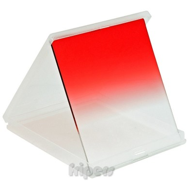 Rectangular filter 84x96 mm Cokin type half RED FreePower
