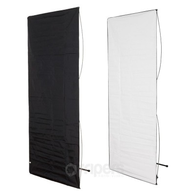 Panel reflector Aurora 2in1 100x220cm black/white