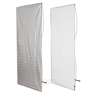Panel reflector Aurora 2in1 100x220cm silver/white