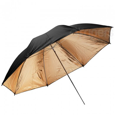 Reflective umbrella FreePower 110cm black - golden