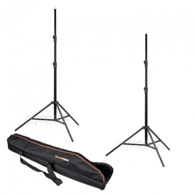Set of 2 Light Stands with cover FreePower