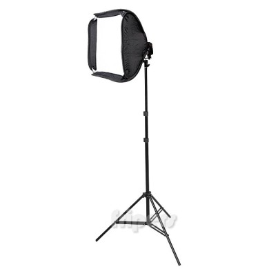 Softbox 50x50cm, light stand 225cm Reporter Kit FreePower Soft 50 (softbox, grid ,light stand)