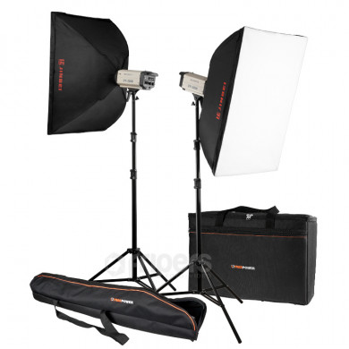 Flash lighting kit FreePower 2 x CY200K SOFT
