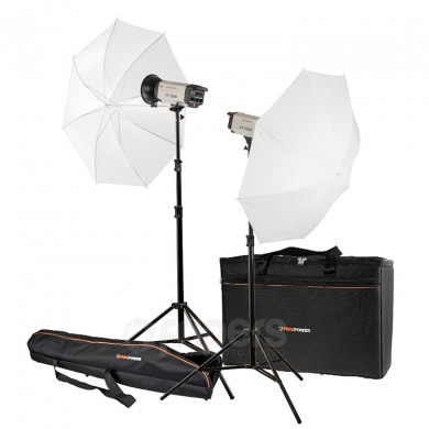 Flash lighting kit FreePower 2 x CY300K UMB