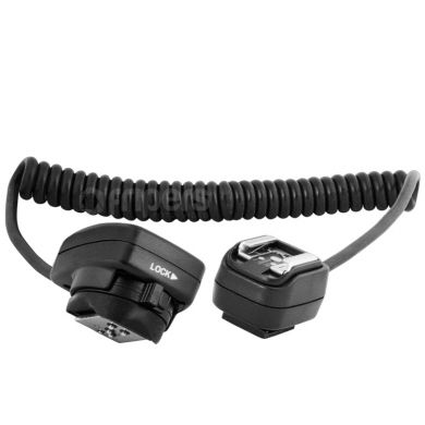 TTL Spiral Sync Cord with Male & Female ISO Shoes iTTL like SC-28 FreePower