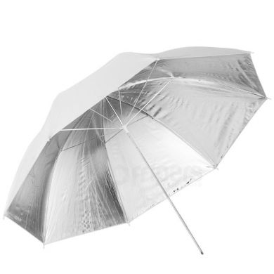 Reflective umbrella FreePower 90cm silver