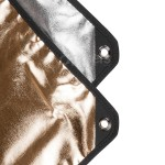 Panel reflector Aurora 2in1 100x220cm silver/golden