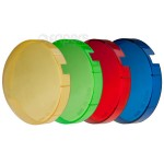 Colour fiters kit FreePower 76mm for flash bulbs