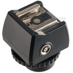 Hot shoe adapter with PC and mini jack 3,5mm sockets JSC-8 FreePower