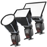 Microbox: 3 camera flash softboxes kit