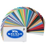 Sample card of paper backgrounds Savage Widetone