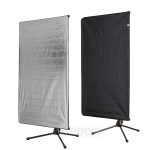 Panel reflector Aurora 2in1 80x120cm with stand and holder
