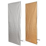 Panel reflector Aurora 2in1 100x220cm golden/silver